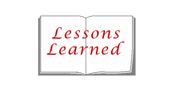 Looking Back At Lessons Learned – Part 2